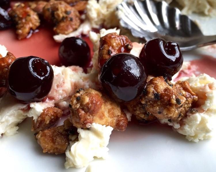 Delice de Bourgogne + Cinnful Pecans + Amarena Cherries