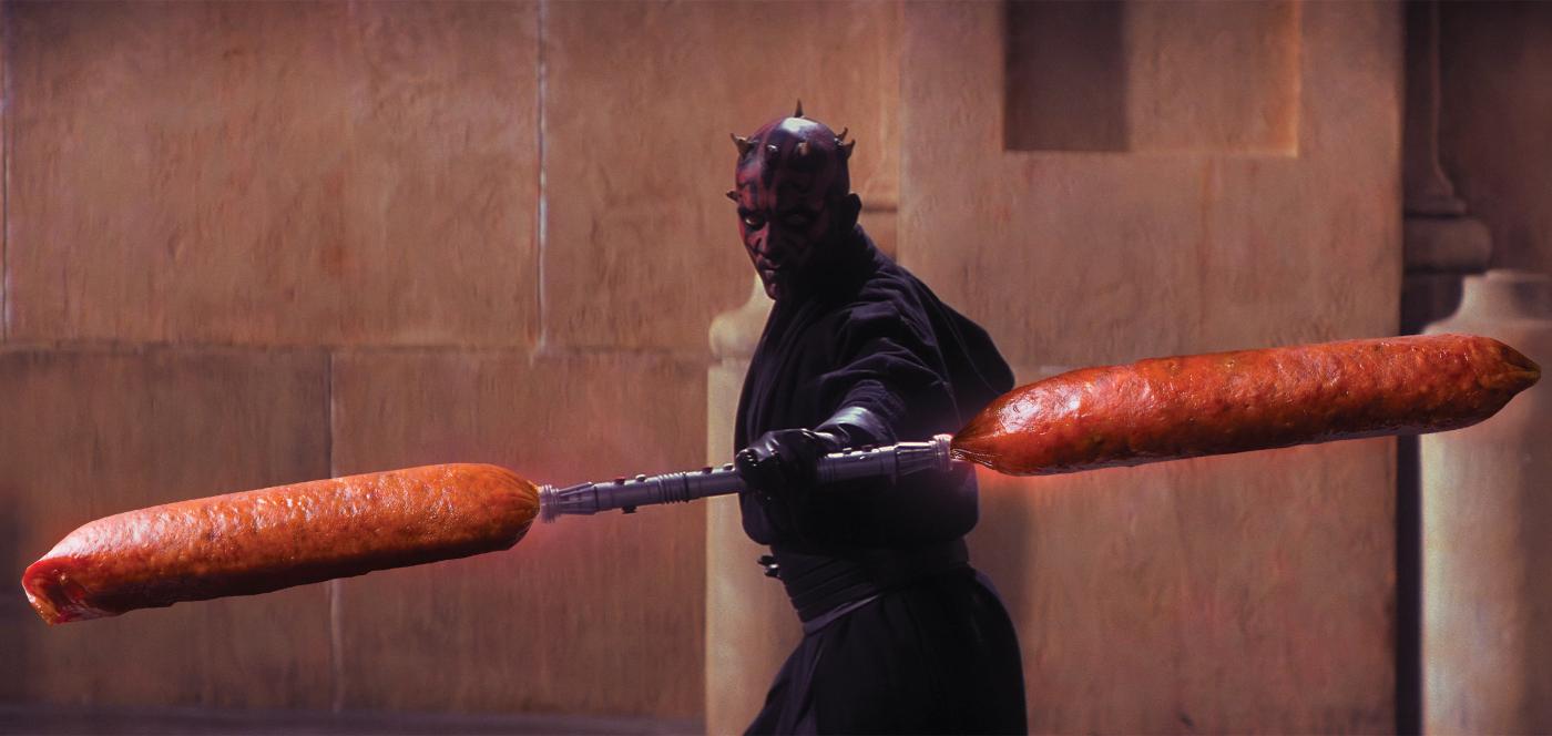 Darth Maul + pepperoni