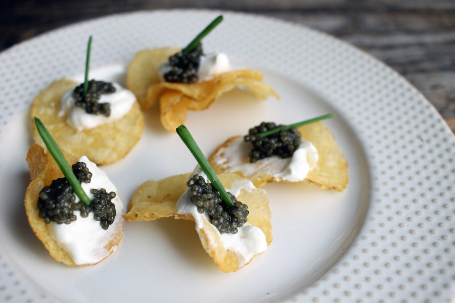 Caviar Potato Chips